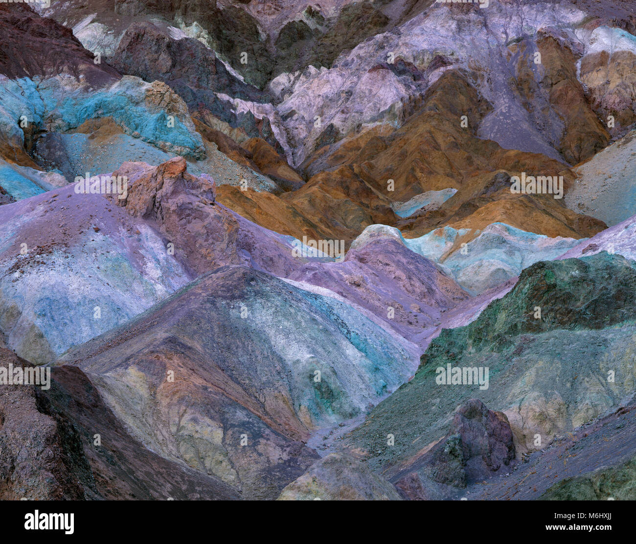 Artist's Palette, Death Valley National Park, California - Stock Image