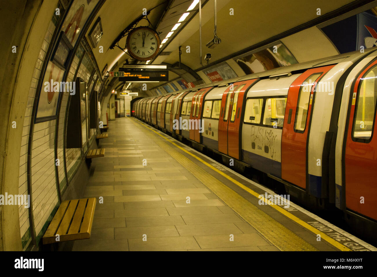 Ghost Train, Kennington Underground Station, London, England, UK; - Stock Image