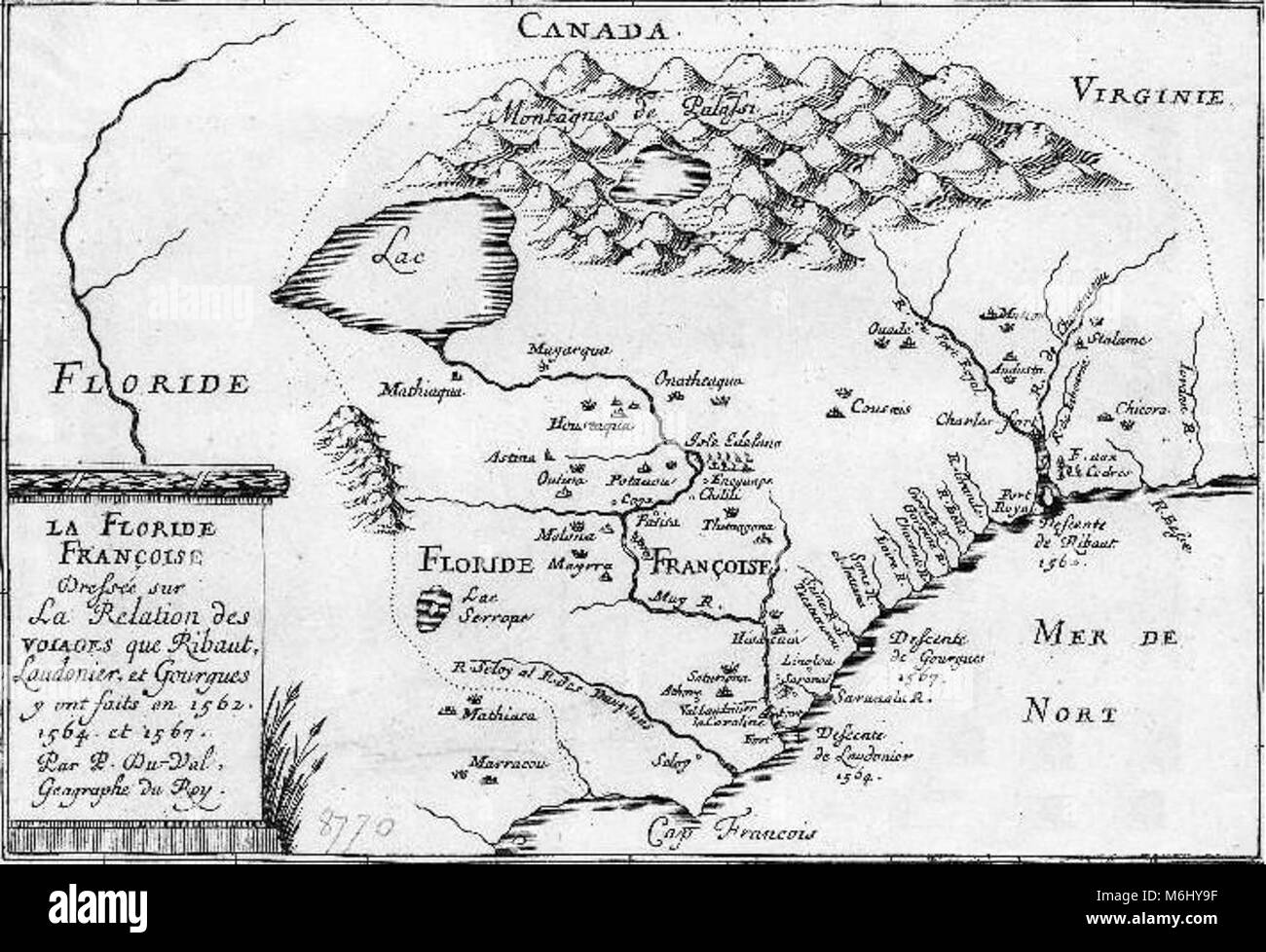 Historic Florida Map Black And White Stock Photos Images Alamy