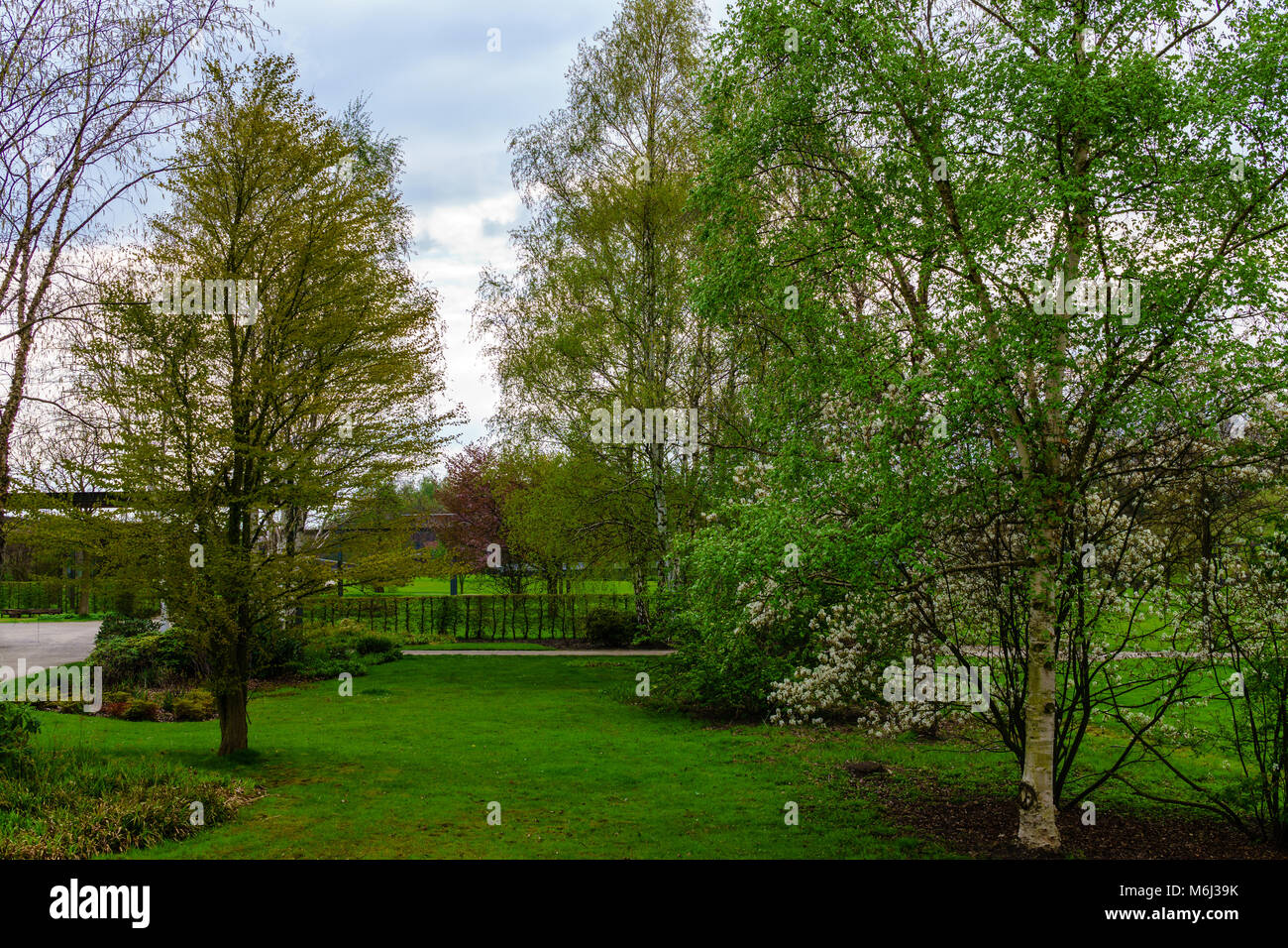 nordsternpark in gelsenkirchen at summer - Stock Image