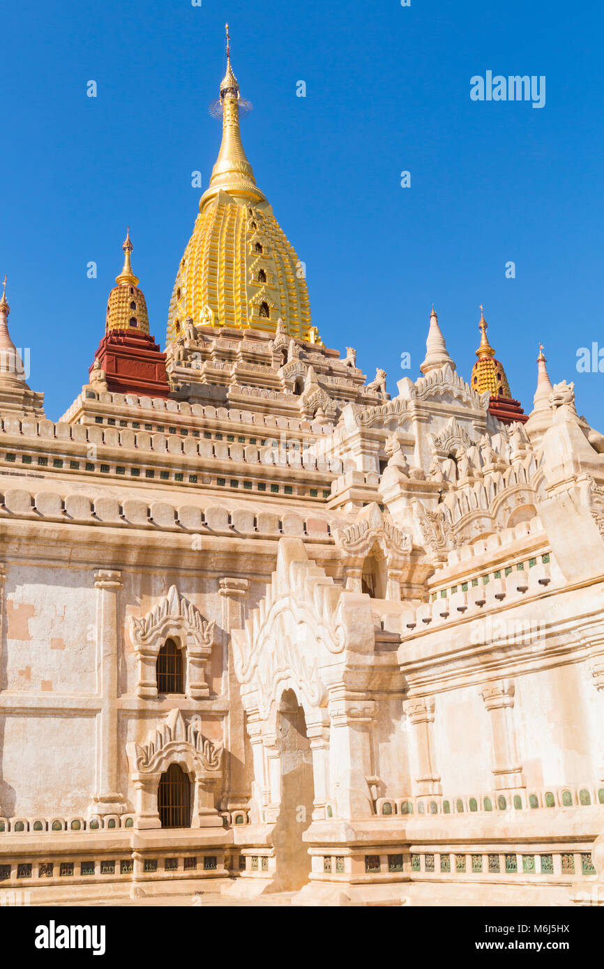 Ananda Pagoda, Ananda Temple at Bagan, Myanmar (Burma), Asia in February - Stock Image