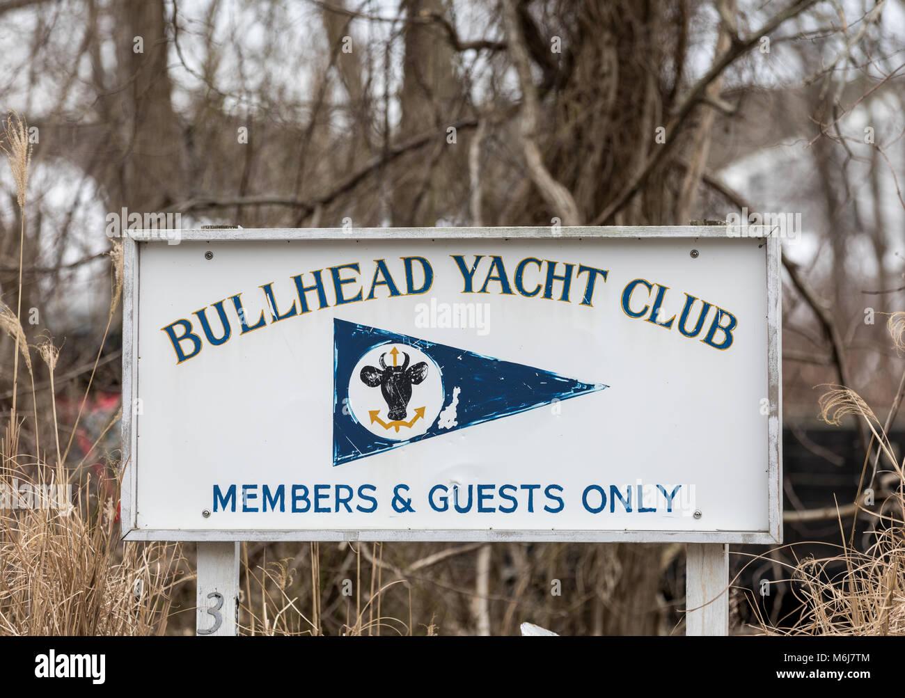The bullhead yacht club in southampton, ny - Stock Image