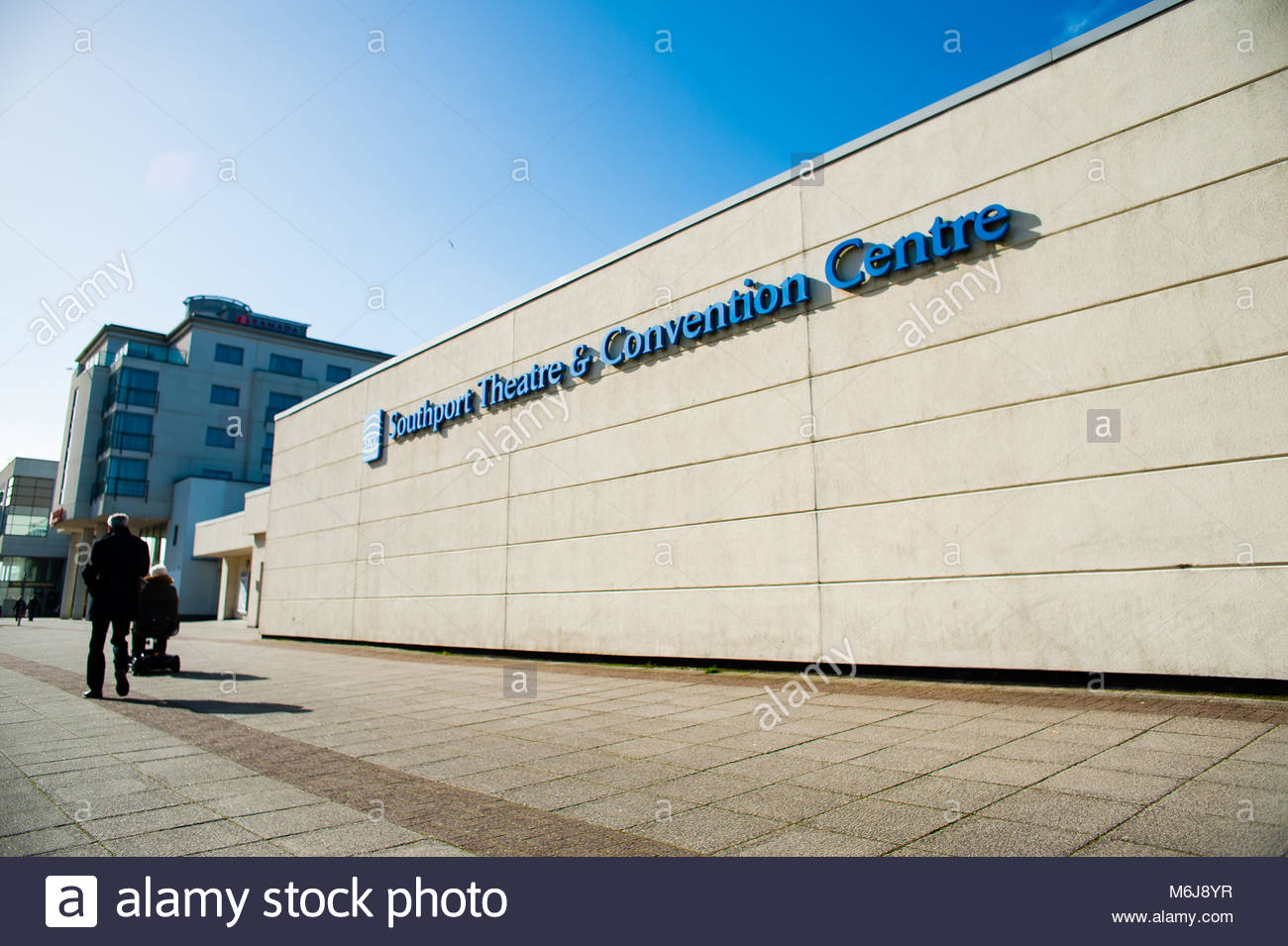 Southport Theatre & Convention Centre. The STCC is a Theatre and Conference centre for shows, trade exhibitions, Stock Photo