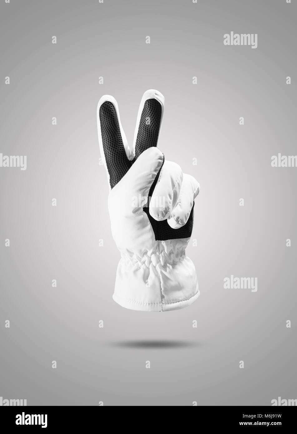 White gloves Isolated include clipping path - Stock Image