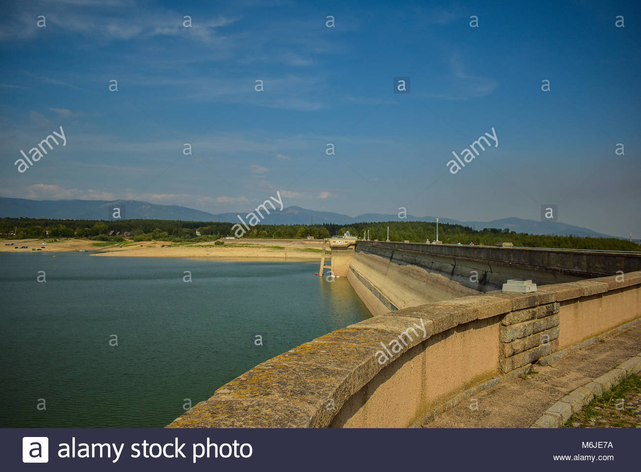 A hot summer day at Koprinka dam near Kazanlak town, South Bulgaria. - Stock Image