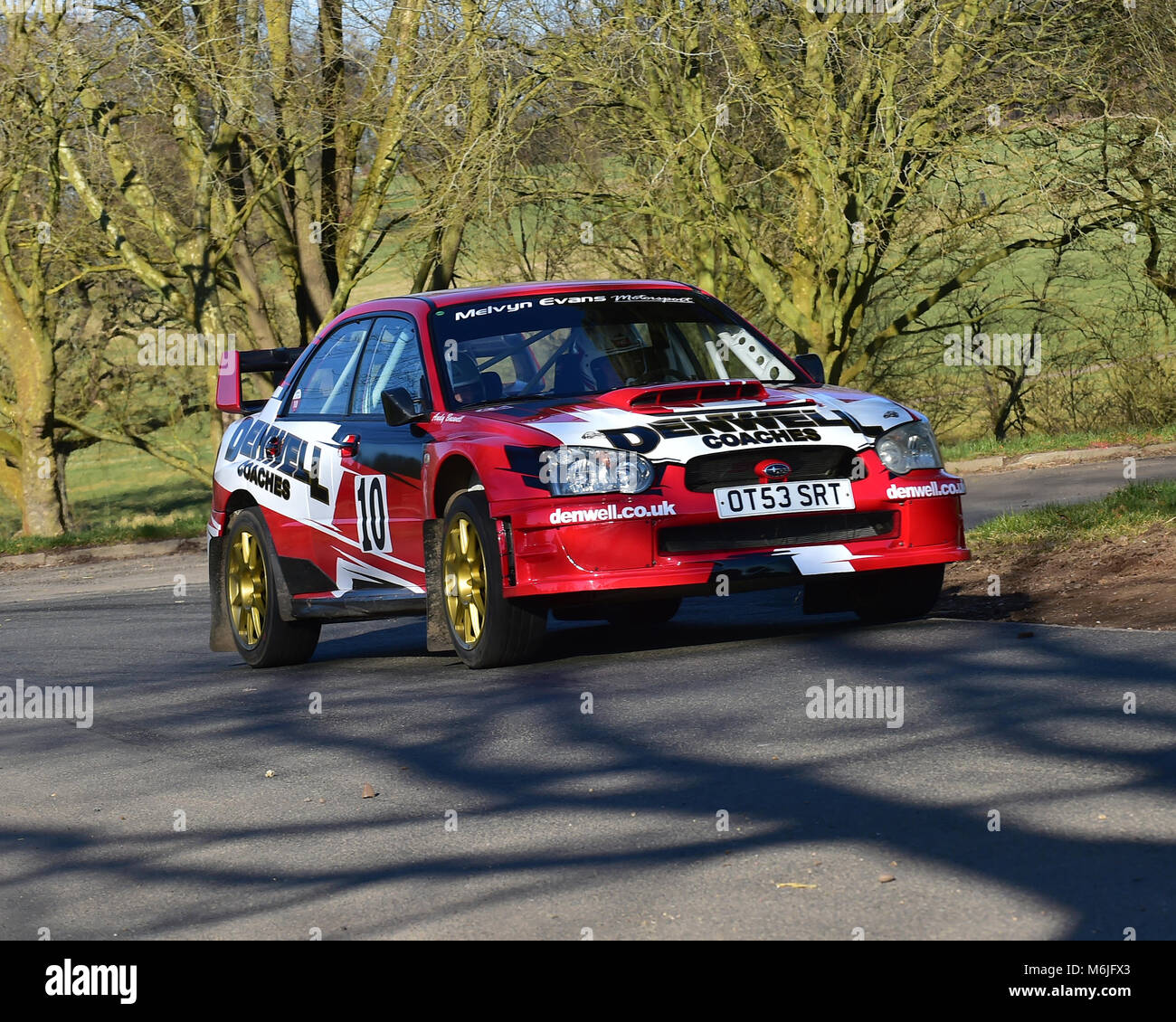 Rob Dennis, Subaru Impreza WRC, Race Retro, Rally stage, Sunday 25th ...