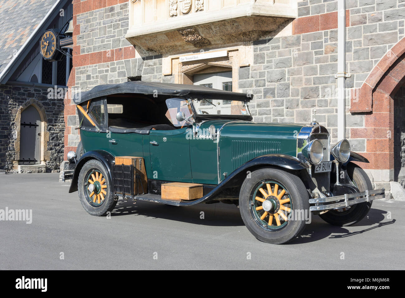 1929 Buick Roadster classic car, Christ's College, Christchurch, Canterbury, New Zealand - Stock Image