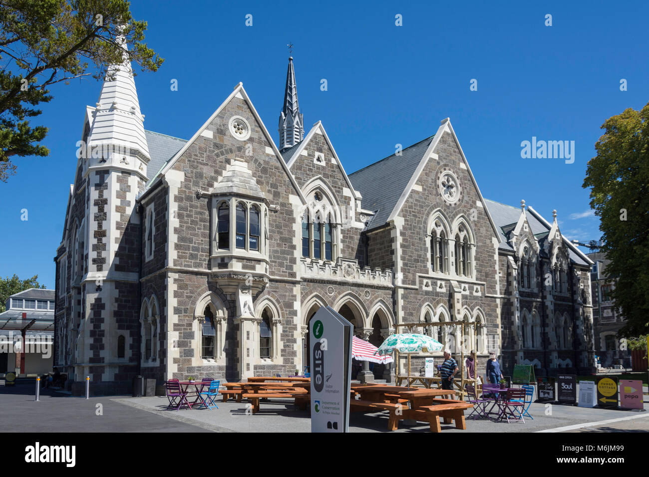 Coffee Corner Cafe & Visitor Information, Christchurch Arts Centre, Worcester Boulevard, Christchurch, Canterbury, - Stock Image