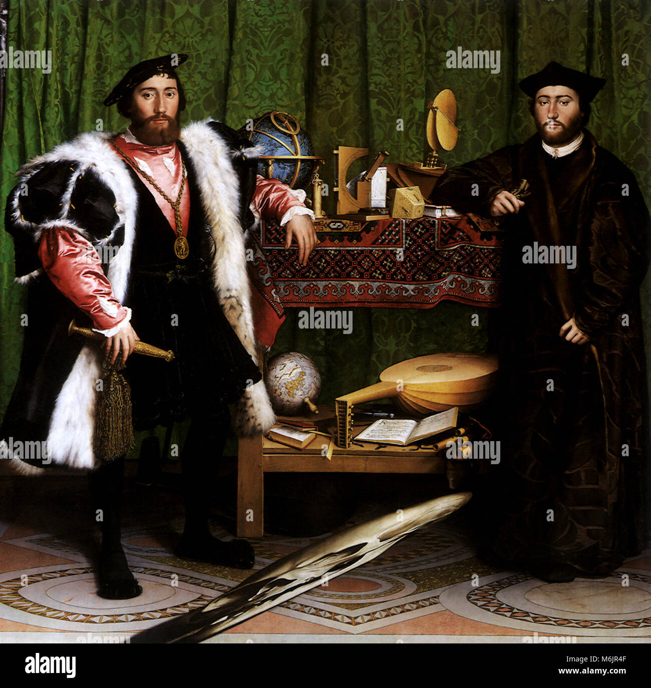 The Ambassadors 1533, Holbein, Hans, the Younger, 1533. Stock Photo