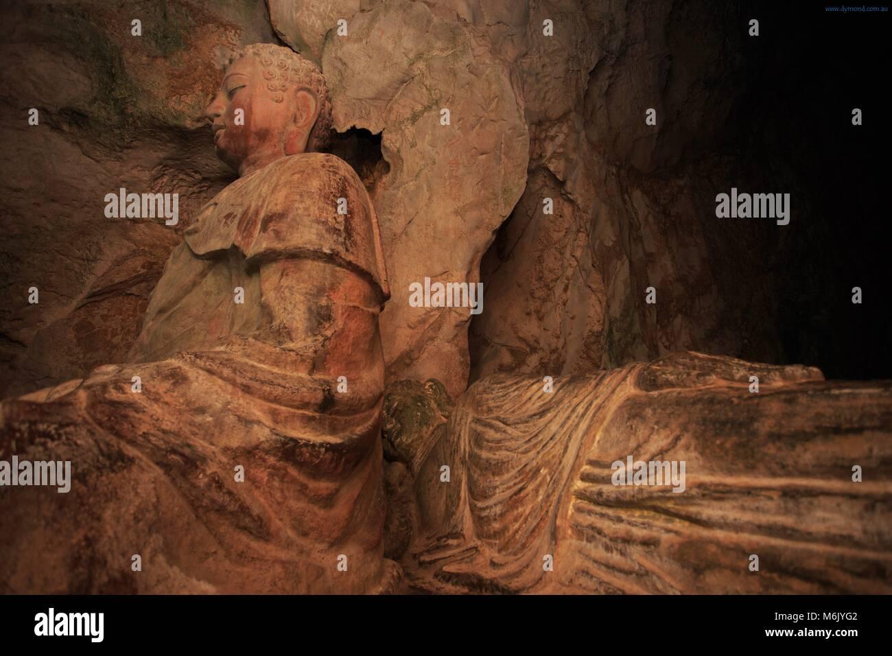 Tang Chon Cave on Nhuy Son Mountain, Da Nang, Vietnam - Stock Image