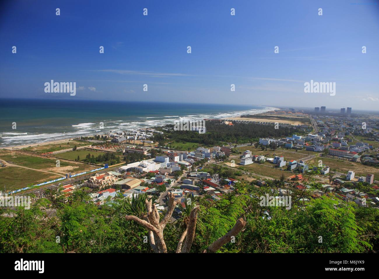 The view from the top of Thuy Son Mountain near Da Nang, Vietnam. - Stock Image
