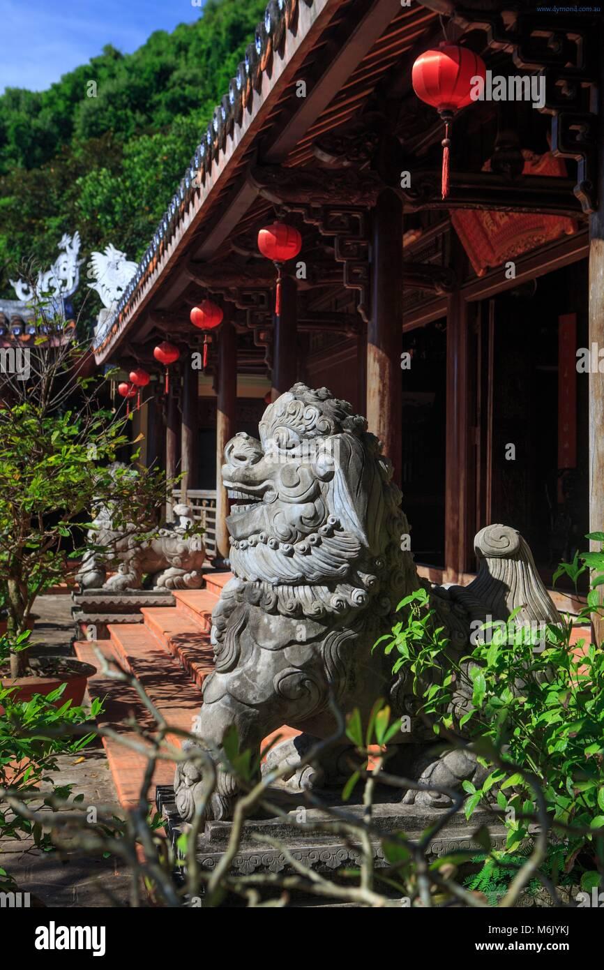 Tam Thai Pagoda on Thuy Son Mountain, Da Nang, Vietnam - Stock Image