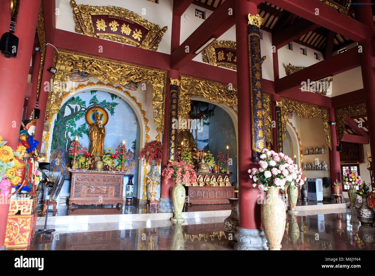 The inside of the Linh Ung Pagoda, Da Nang - Stock Image