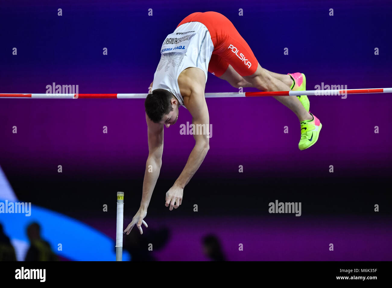 Birmingham, UK. 4th Mar, 2018. Pawel Wojciechowski (POL) in Men's Pole Vault Final during IAAF World Indoor - Stock Image