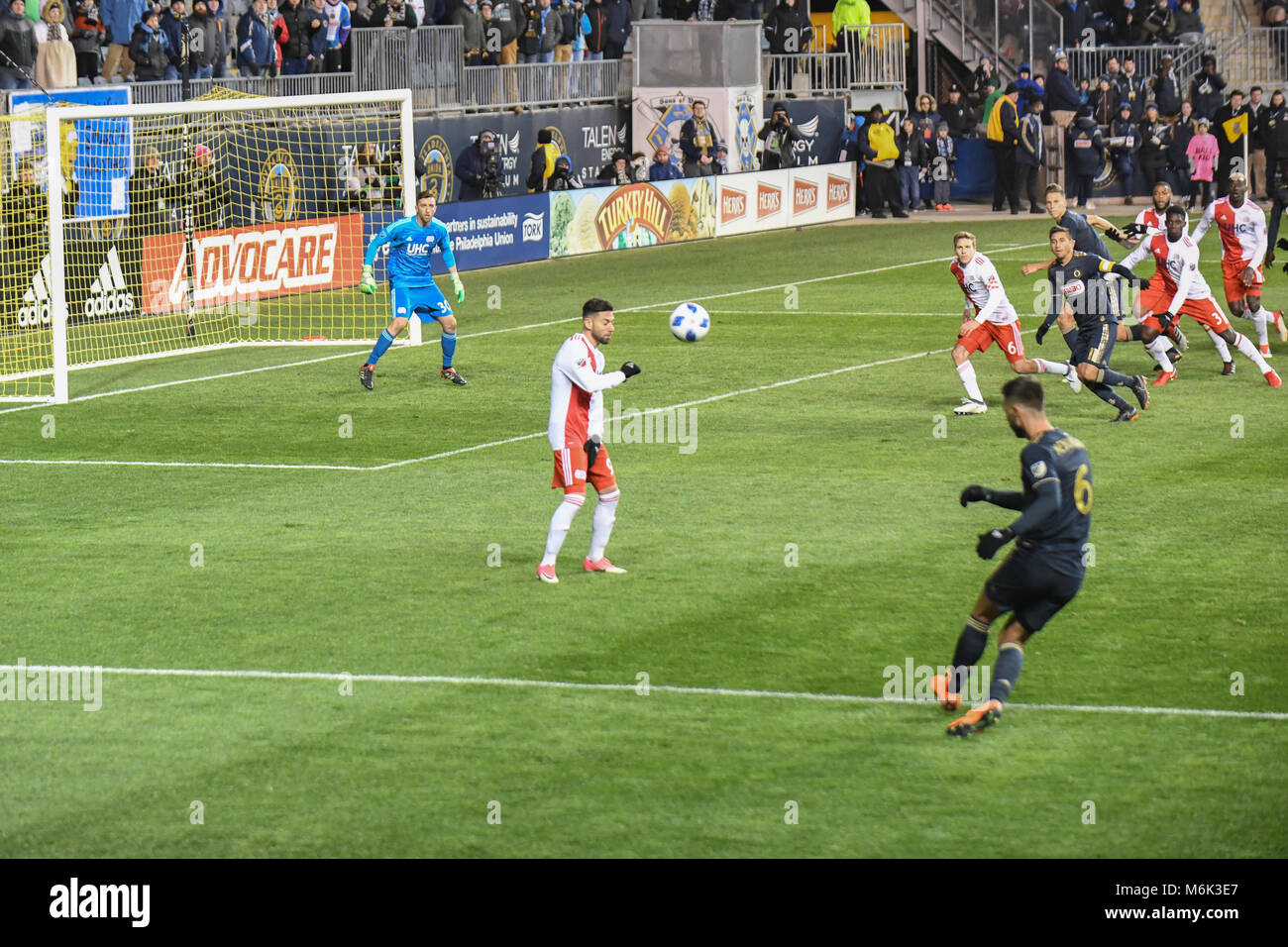 Talen Energy Stadium, Chester, PA, USA. 3rd Mar, 2018. The MLS Philadelphia Union defeat the New England Revolution - Stock Image