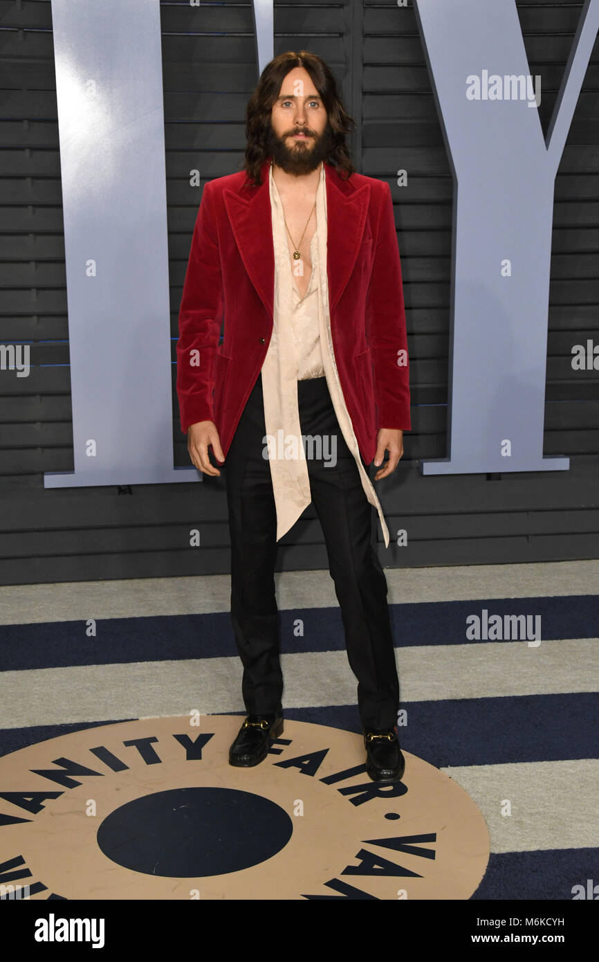 Good Los Angeles, CA, USA. 4th Mar, 2018. Jared Leto. 2018 Vanity Fair Stock  Photo: 176218885   Alamy