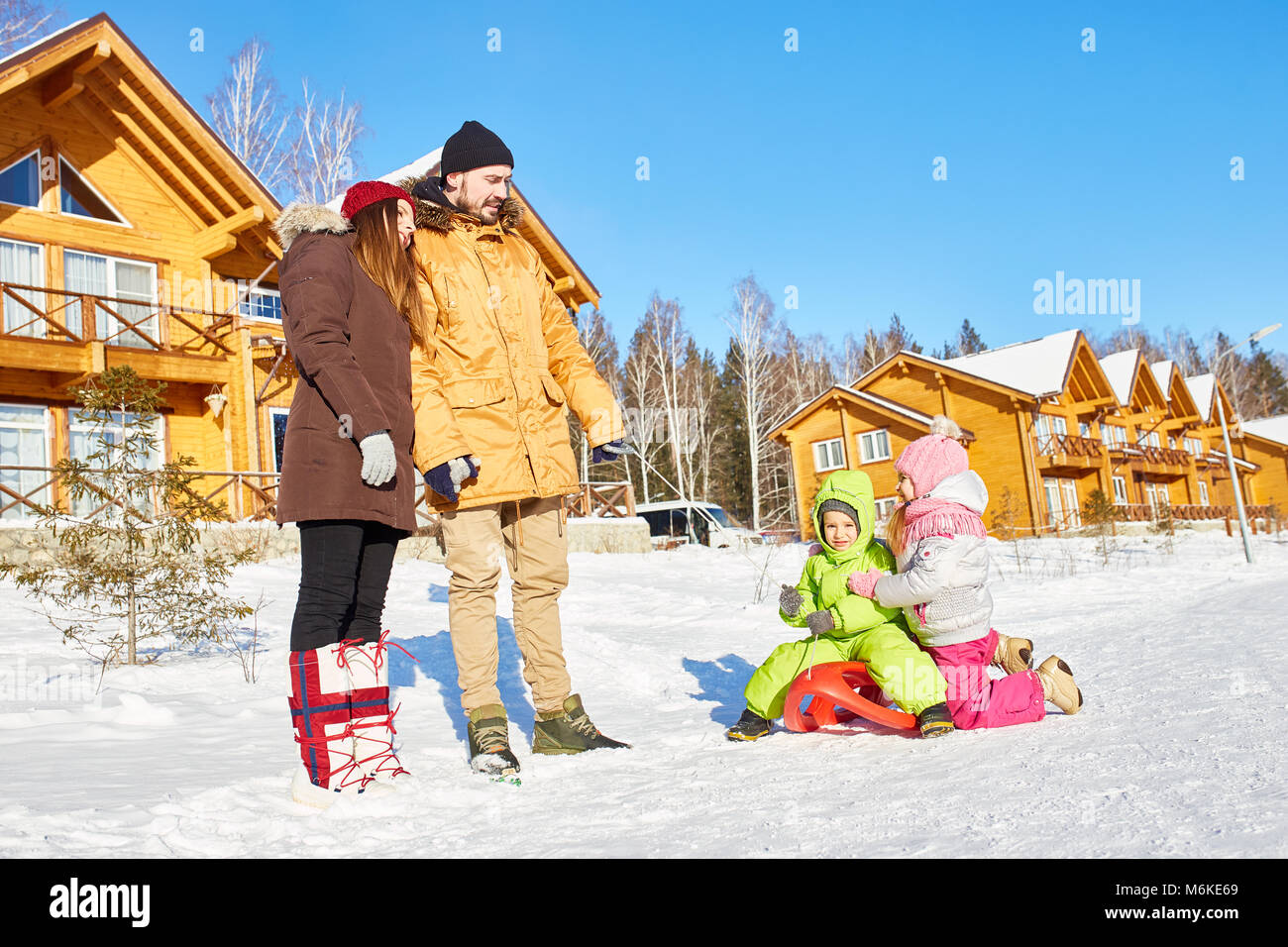 Active family weekend - Stock Image