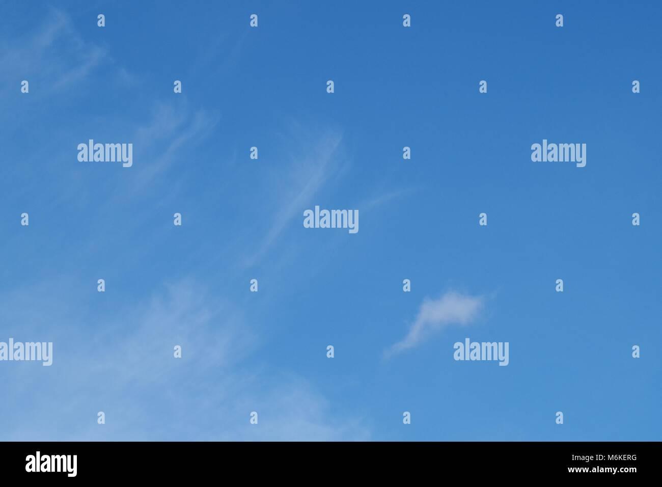 Cumulus Humilis Cloud, Fluffy, White Fair Weather Cloud against a Blue Sky. Topsham, Exeter, Devon, UK. April, 2016. - Stock Image
