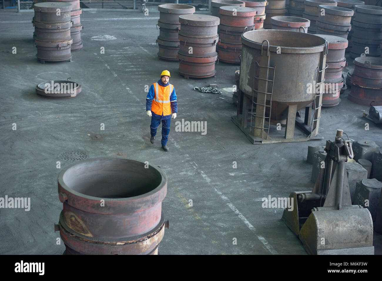 Hard-Working Engineer at Production Department - Stock Image