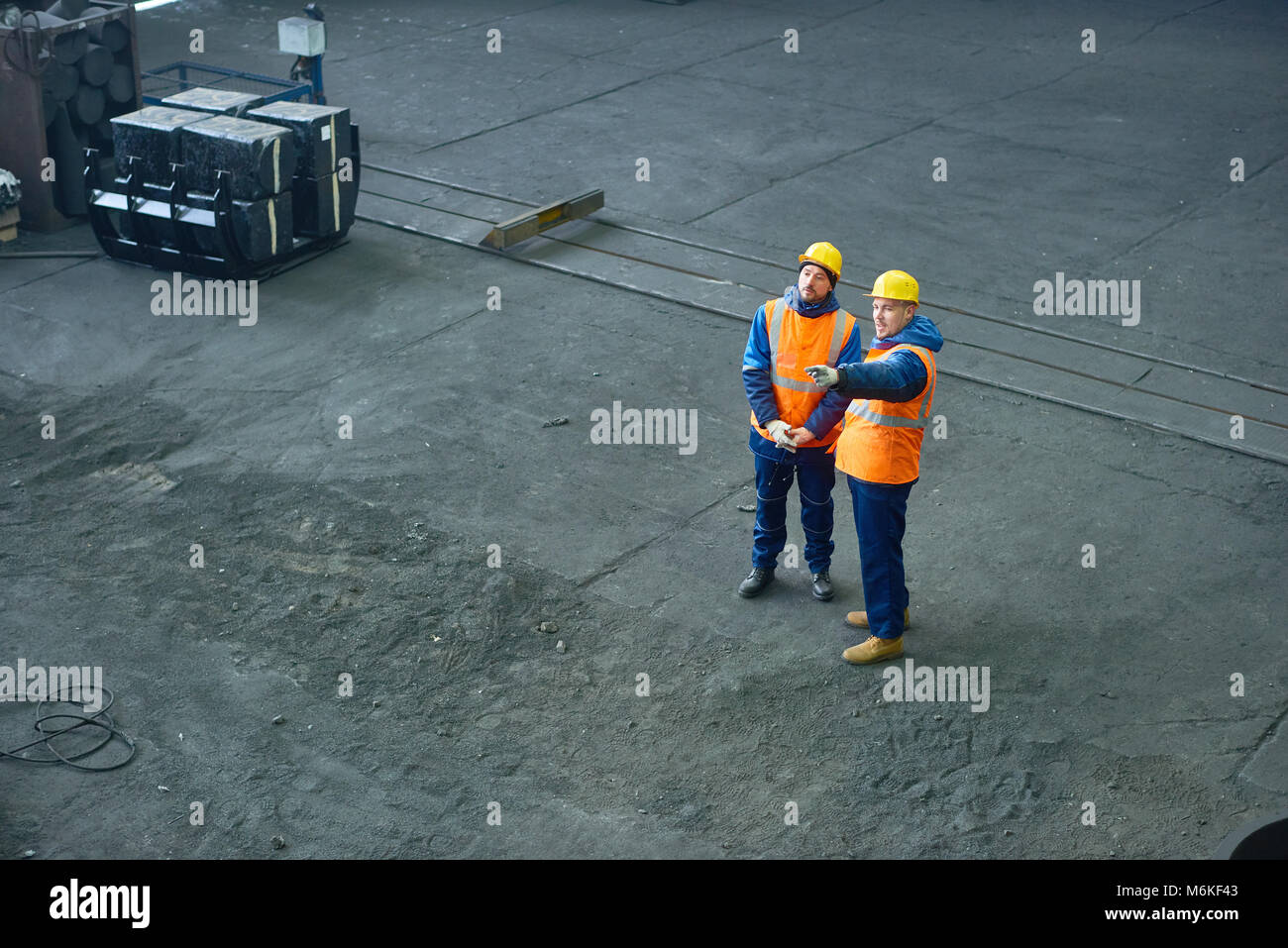 Teamwork at Production Department of Plant - Stock Image
