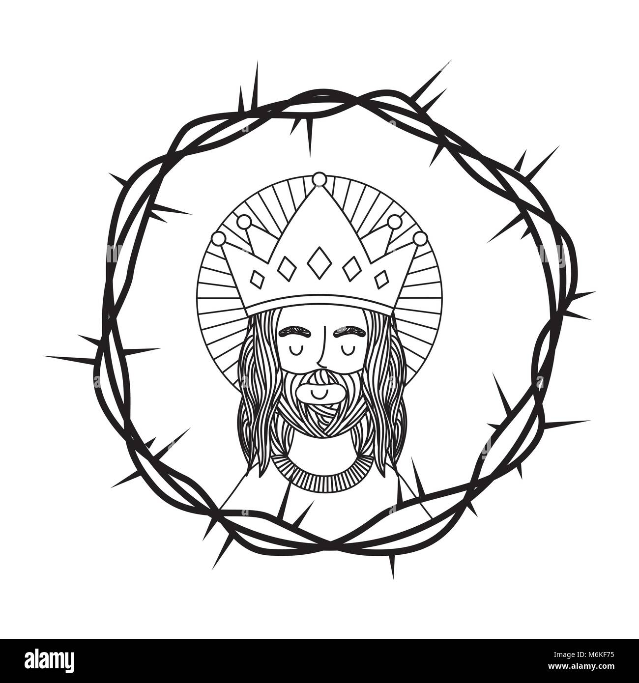 jesus catholicism religion card Stock Vector