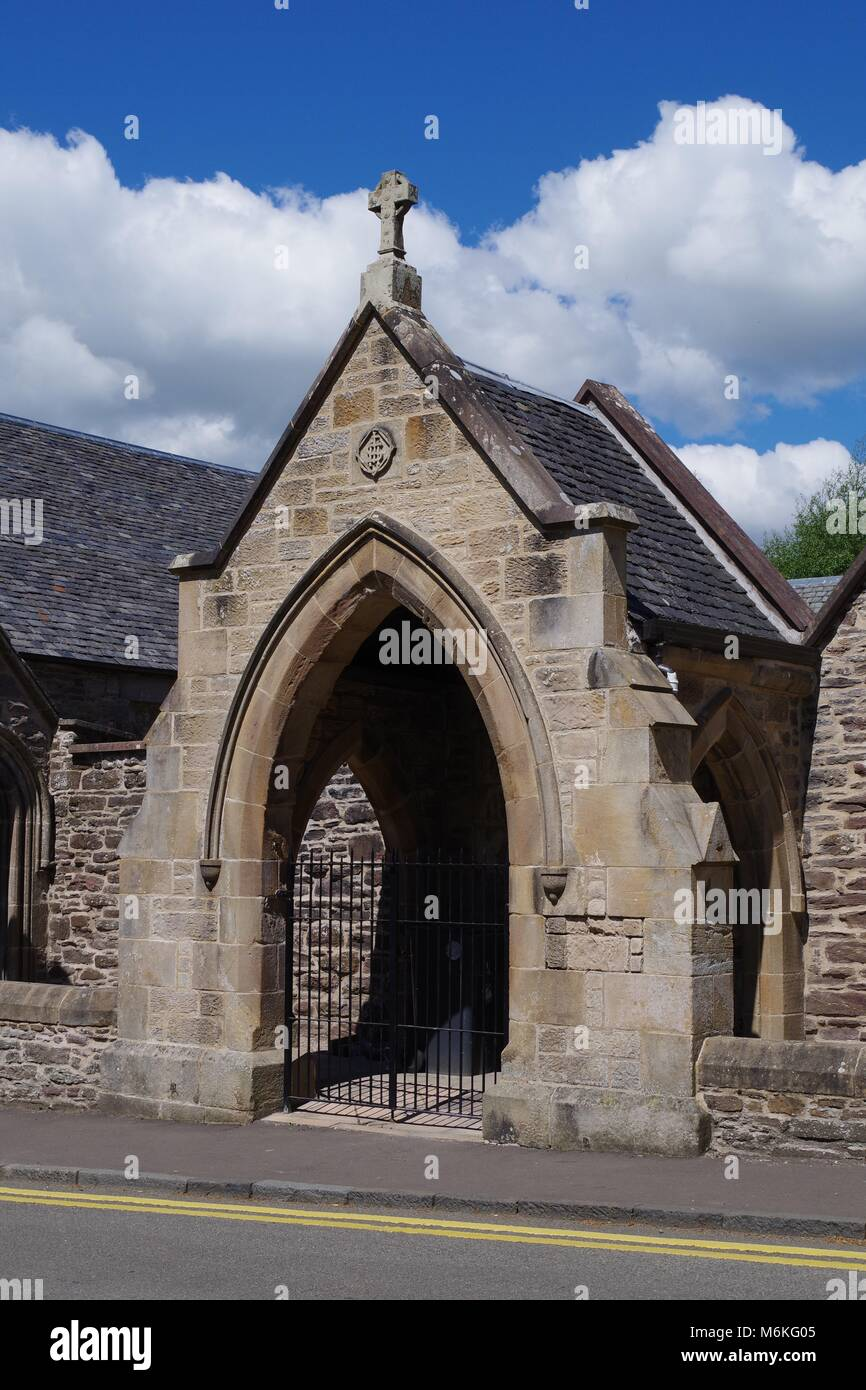 Old Sandstone Building by Dunblane Cathedral, Central Scotland, UK. - Stock Image