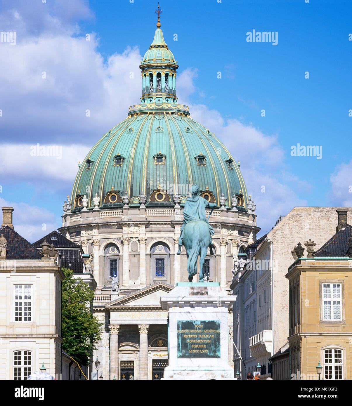 Frederikskirken, aka the Marble church, Copenhagen, Denmark - Stock Image