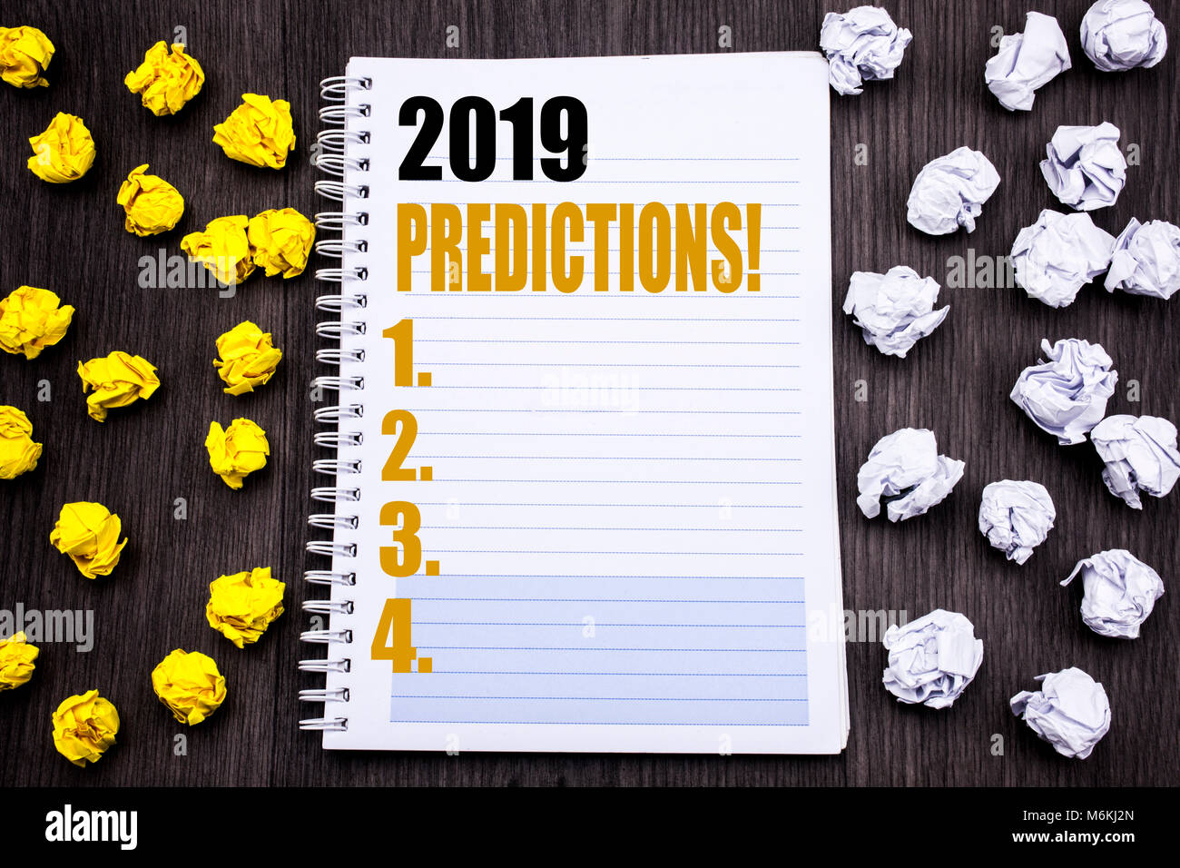 Conceptual hand writing text caption showing 2019 Predictions. Business concept for Forecast Predictive Written Stock Photo
