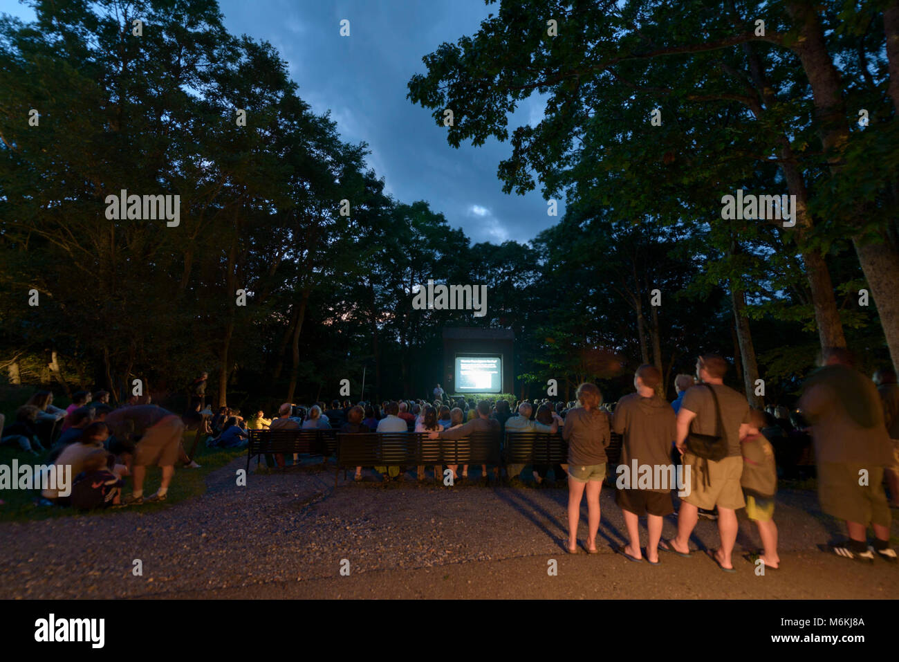 2017 Night Sky Festival. Shenandoah National Park's 2017 Night Sky Festival took place from Friday, August 18 - Stock Image