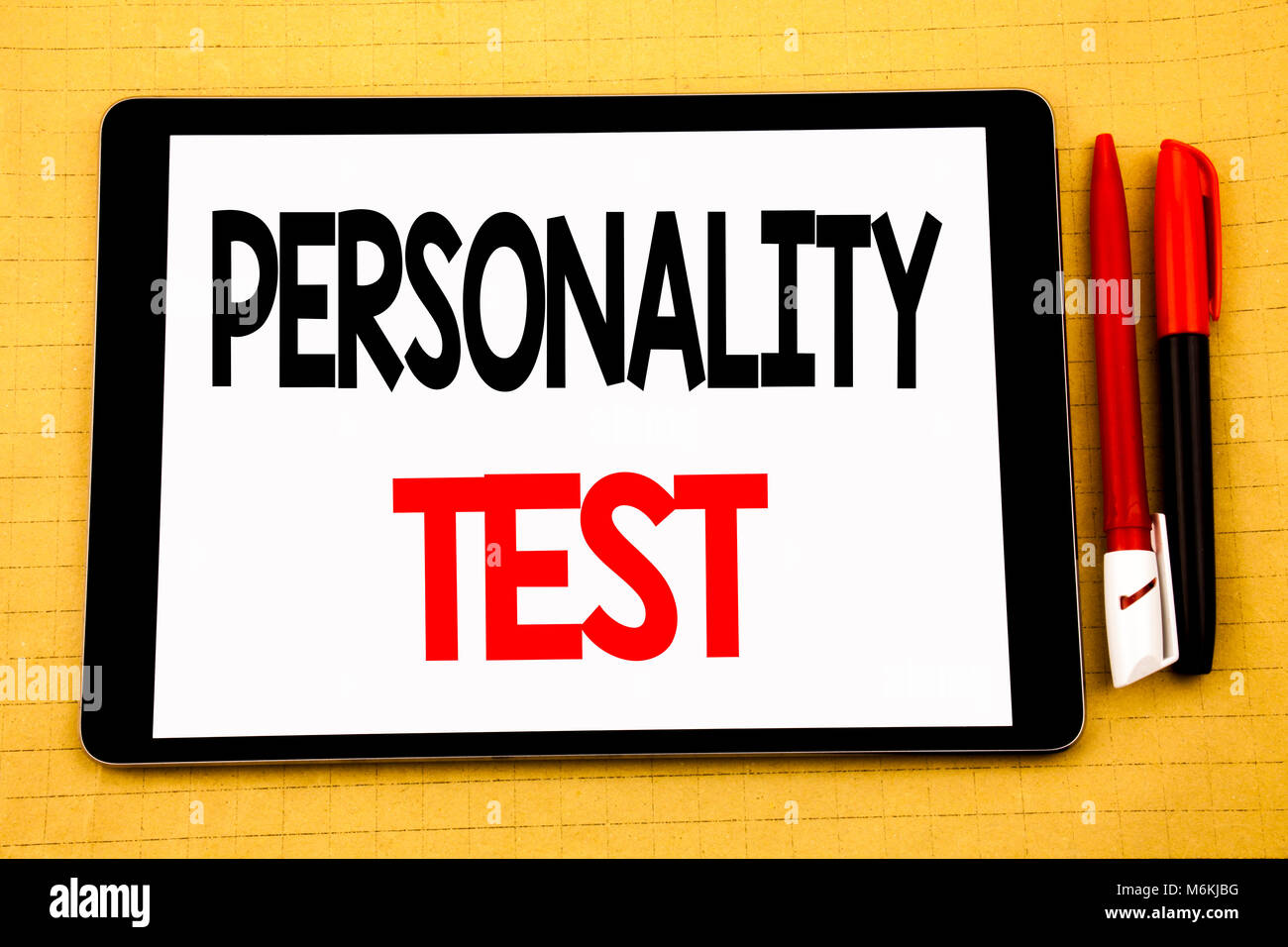 Conceptual handwriting text caption inspiration showing Personality Test. Business concept for Attitude Assessment - Stock Image