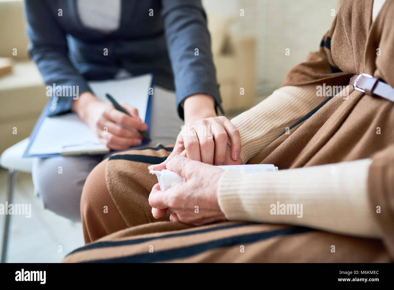Supportive Female Psychologist - Stock Image