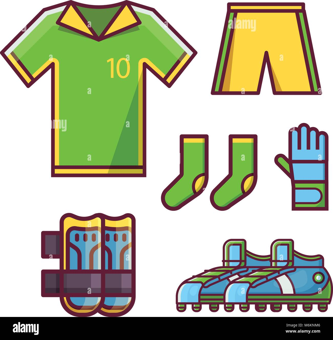 32cf78da7 Soccer Football Team Uniform Set Stock Vector Art   Illustration ...