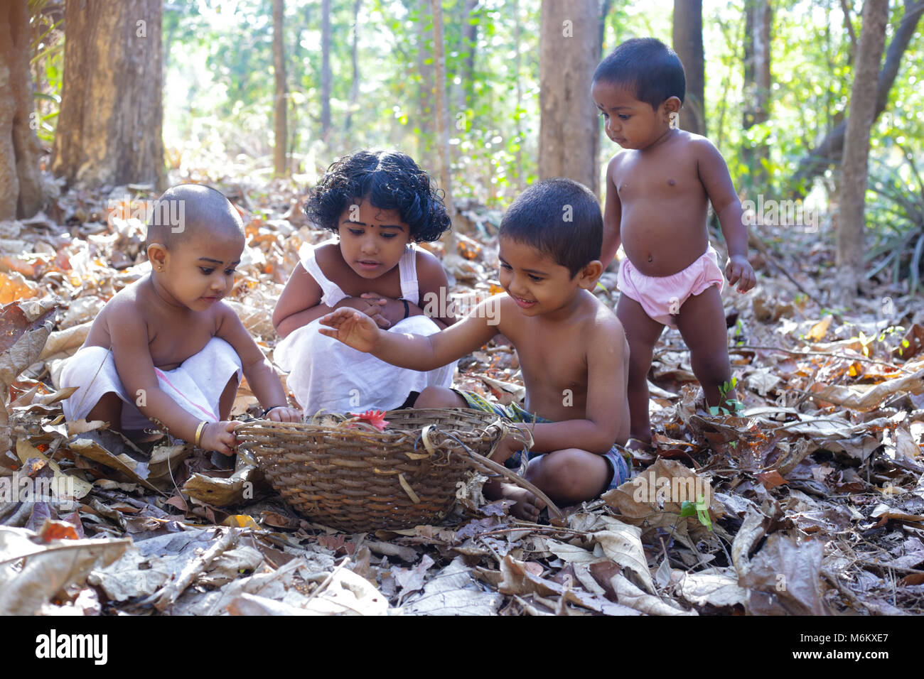 kerala village childhood - Stock Image