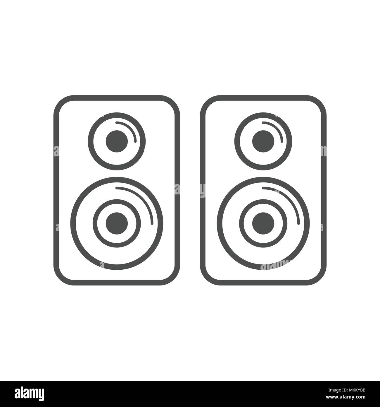Speaker Stereo Simple Icon White Vector Symbol Graphic Logo Design ...