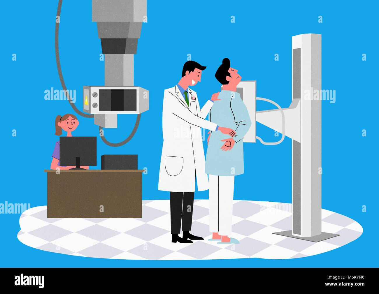 Illustration for a full medical examination, have regular checkups for your health. 004 - Stock Image