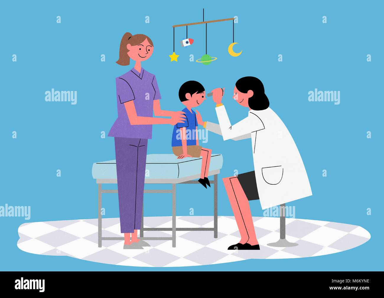 Illustration for a full medical examination, have regular checkups for your health. 008 - Stock Image