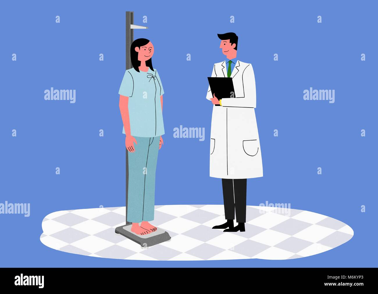 Illustration for a full medical examination, have regular checkups for your health. 017 - Stock Image