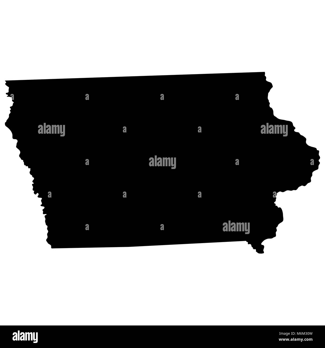 map of the U.S. state of Iowa  - Stock Vector