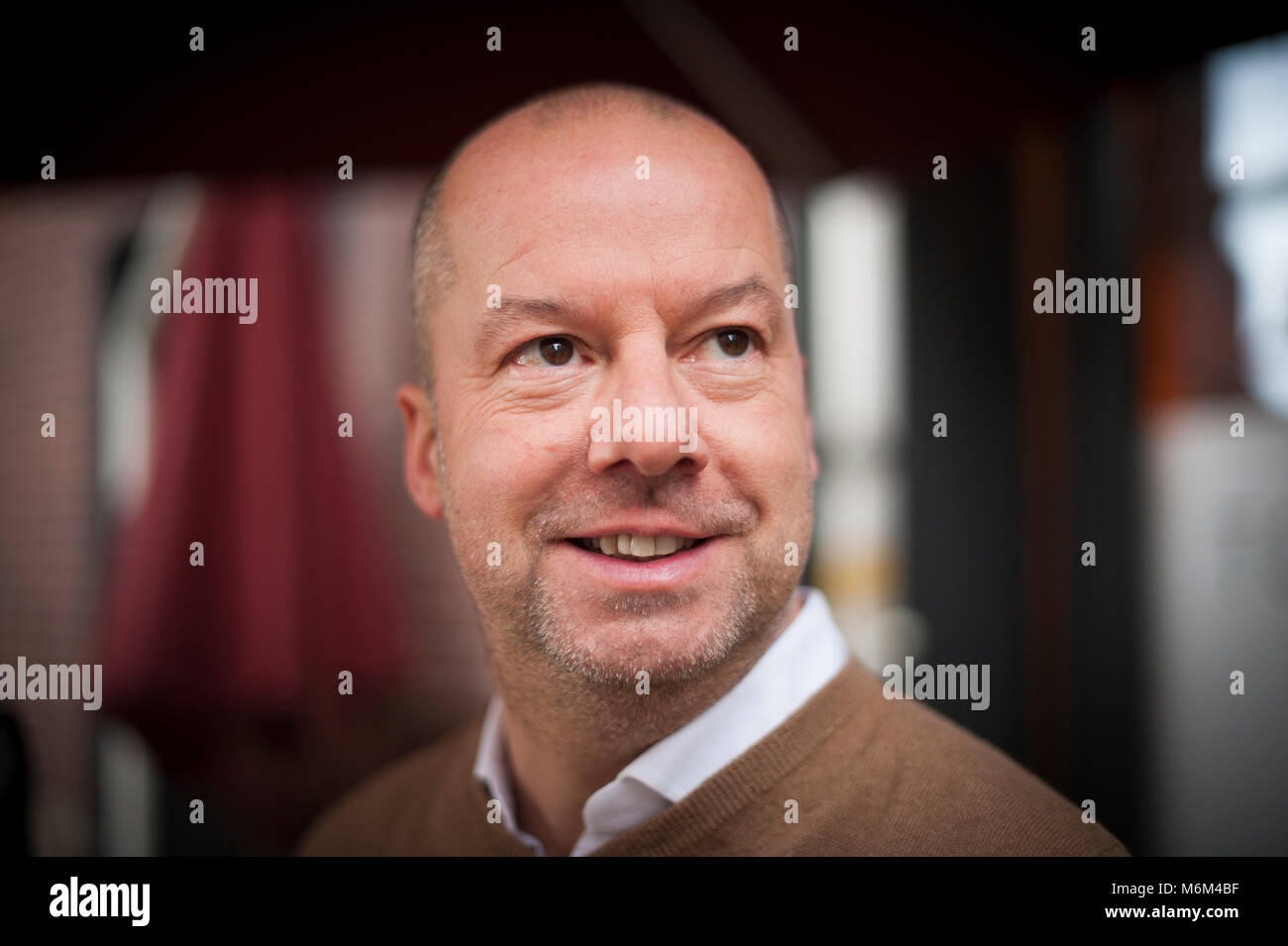 Ubbo Oltmanns Co-Chairman of Bremen's British Chamber of Commerce in Bremen, Germany. - Stock Image