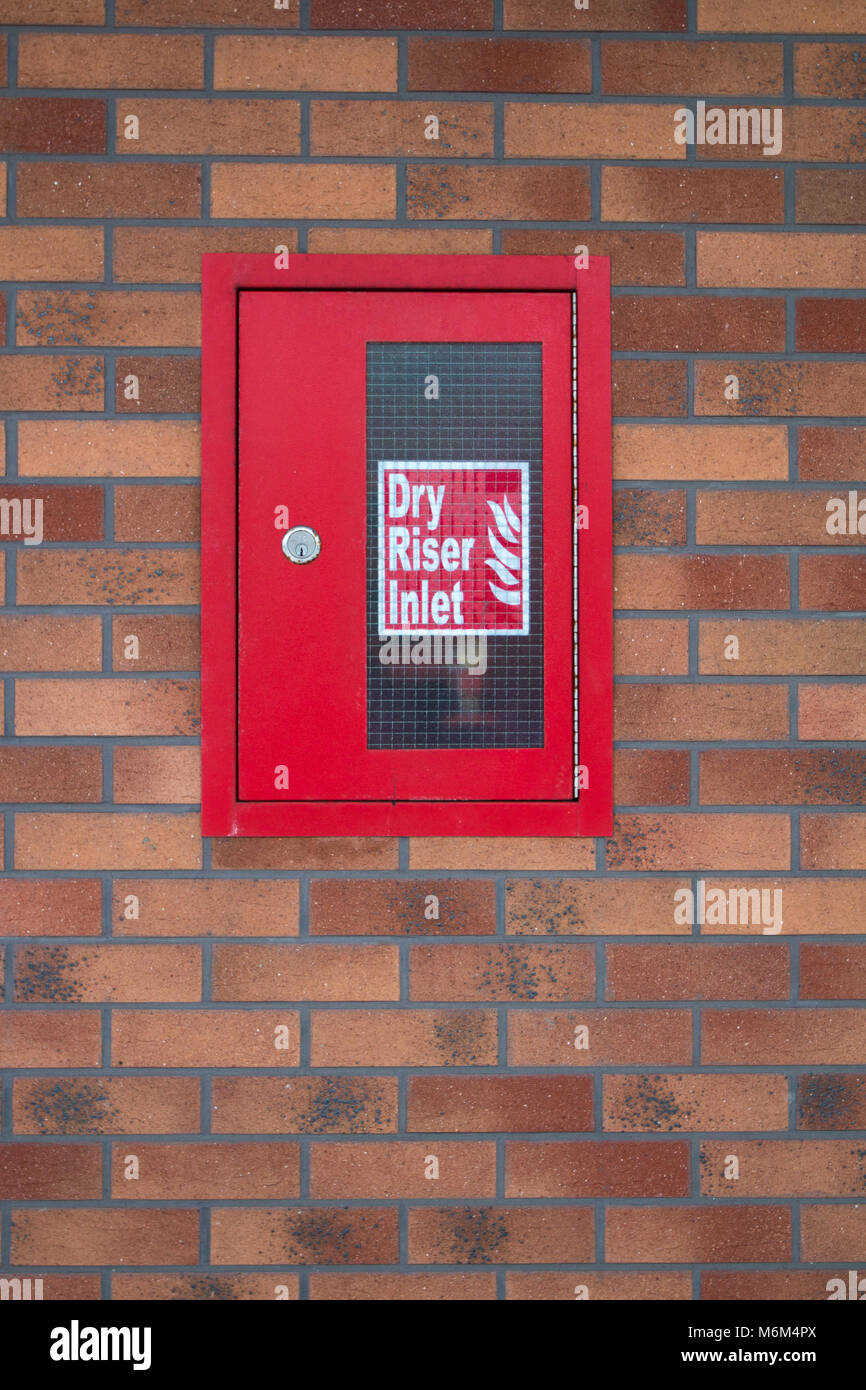 FIRE: Dry Riser Inlet - Stock Image