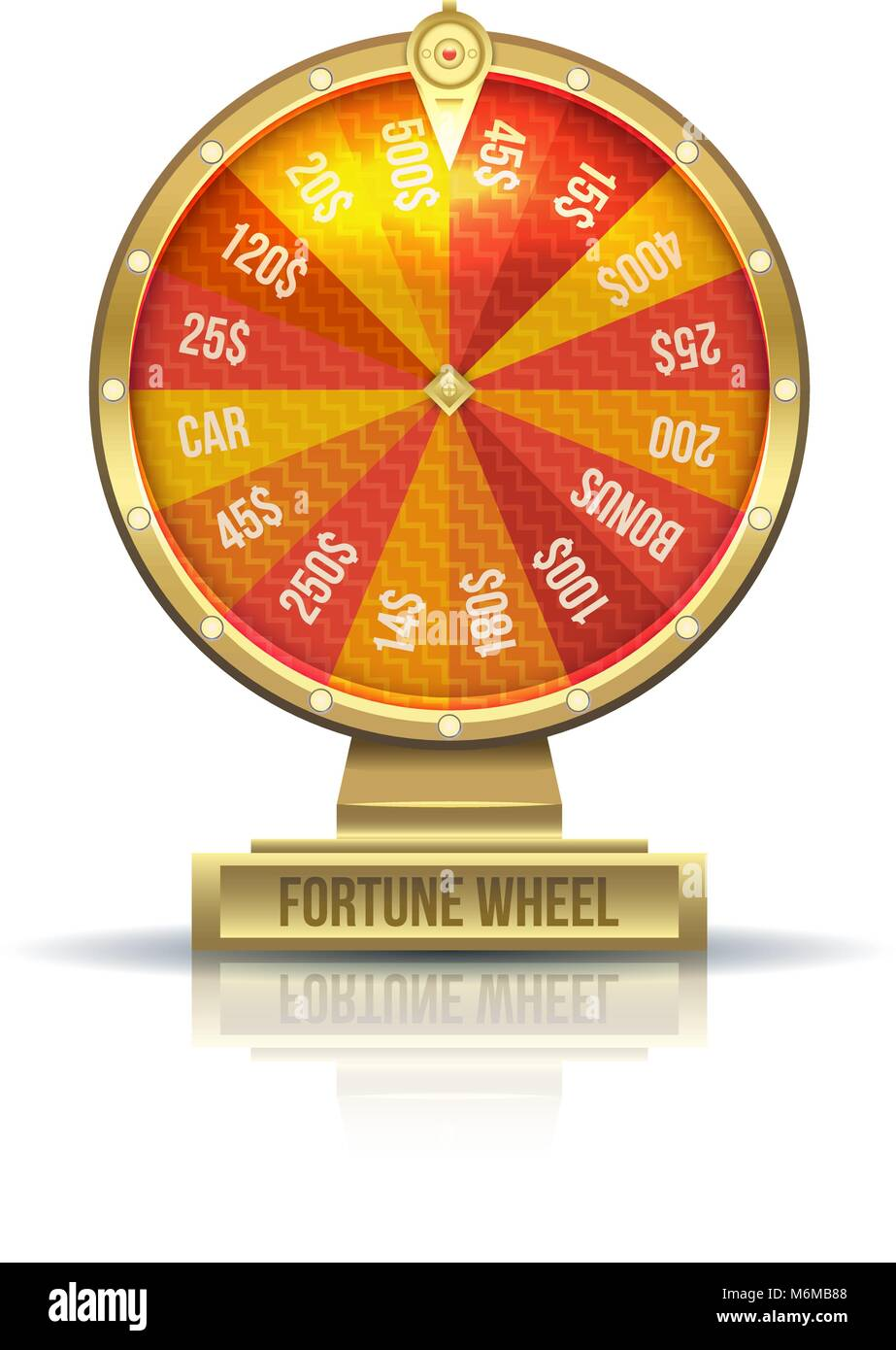 Illustration of Wheel of Fortune - Stock Vector