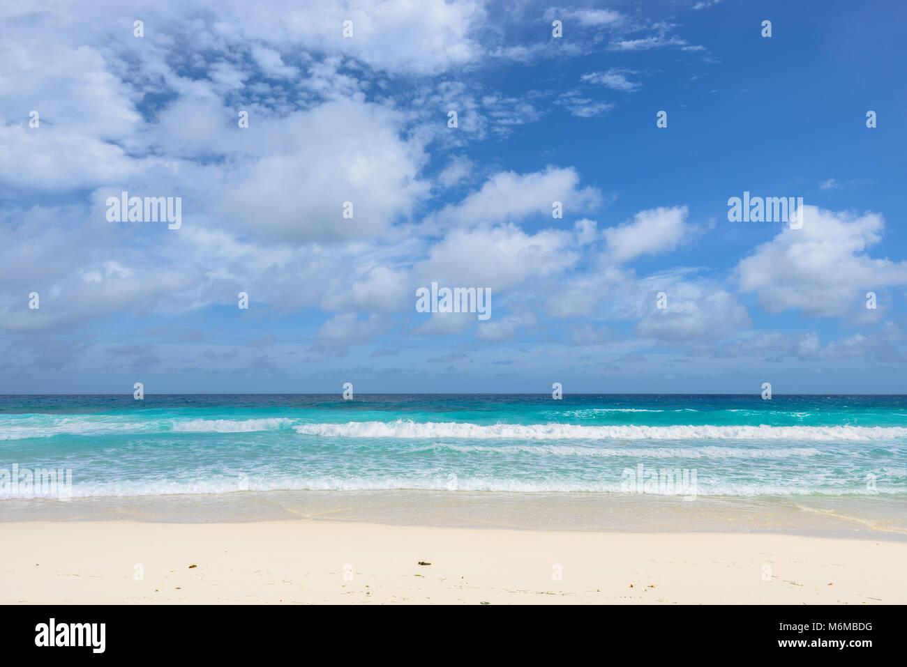 Tropical beach. Beautiful sea and sandy  beach Stock Photo