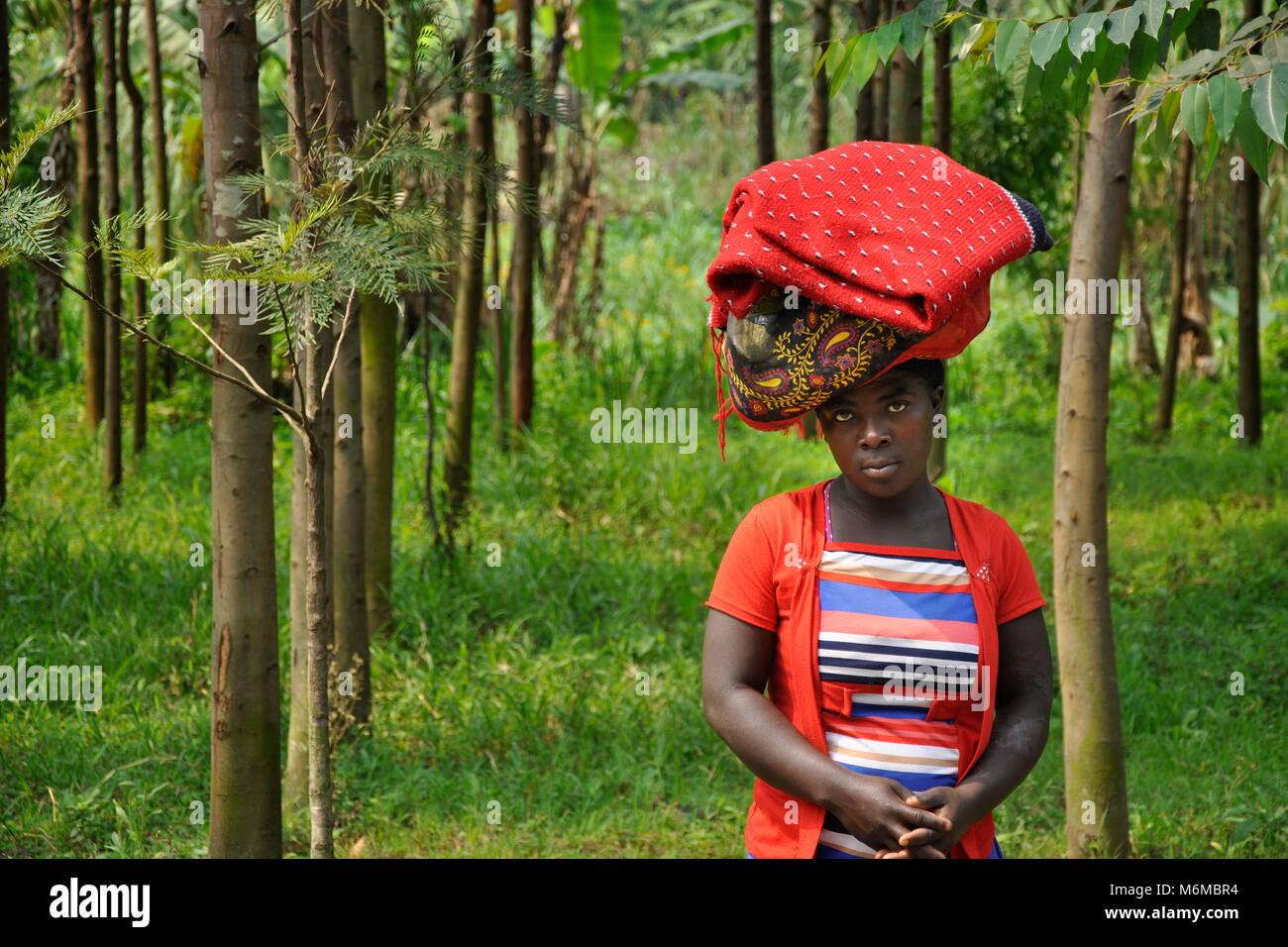 Democratic Republic of Congo, Village near Virunga National Park - Stock Image