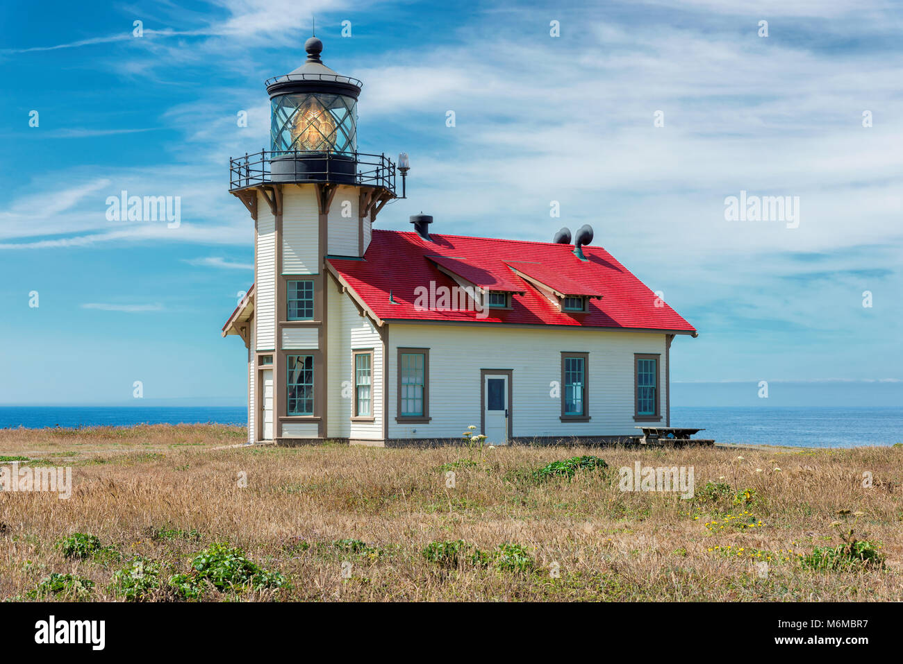 Point Cabrillo Light Station State Historic Park, Mendocino County, California. - Stock Image