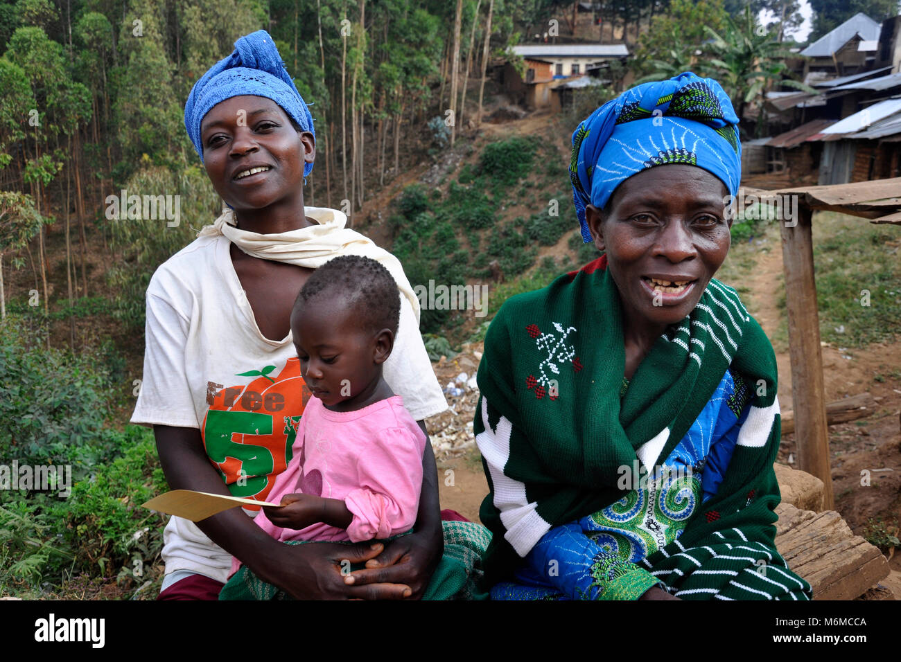 Rwanda, Gisakura Village - Stock Image