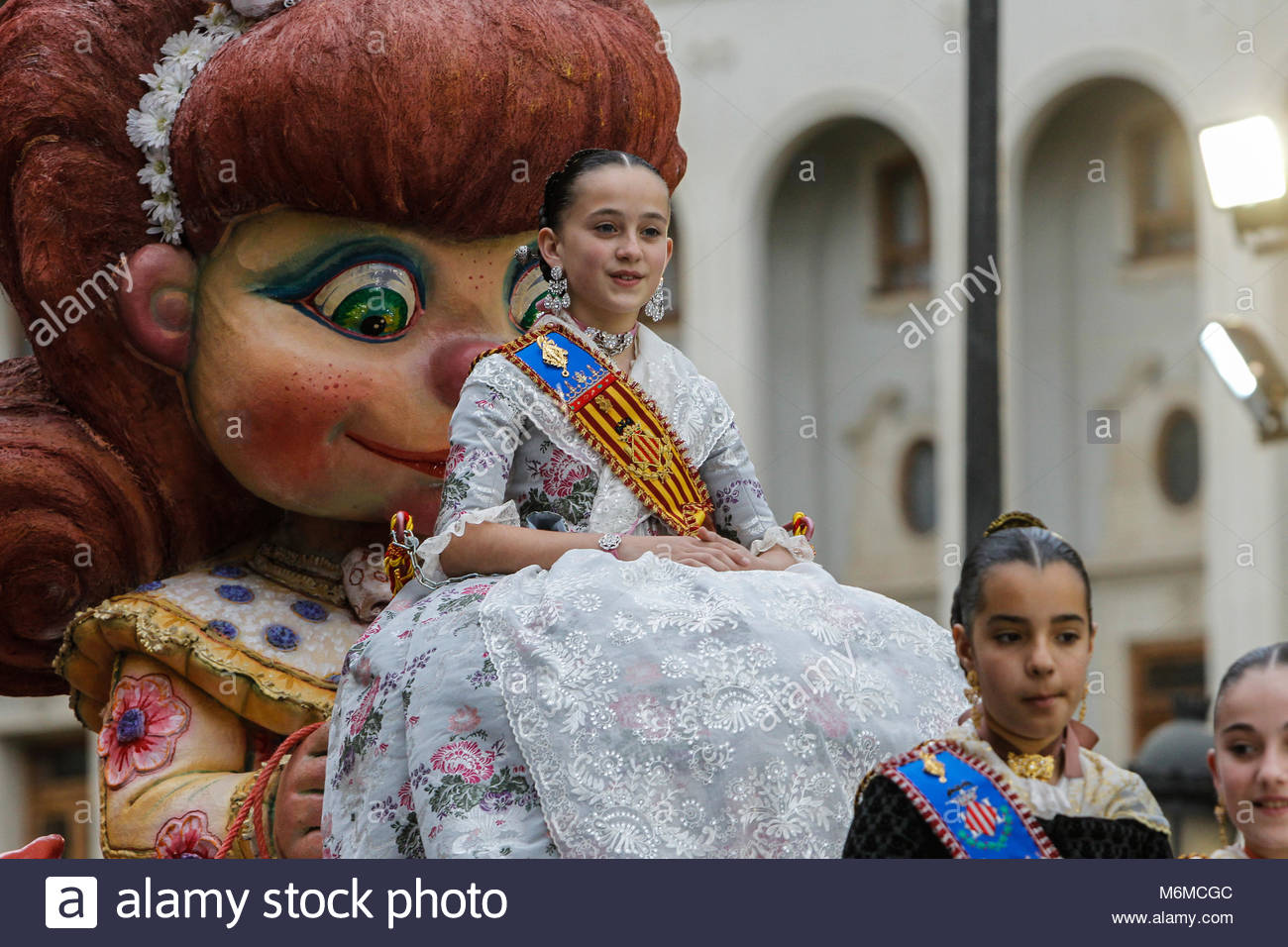 Fallera mayor infantile of valencia - Stock Image