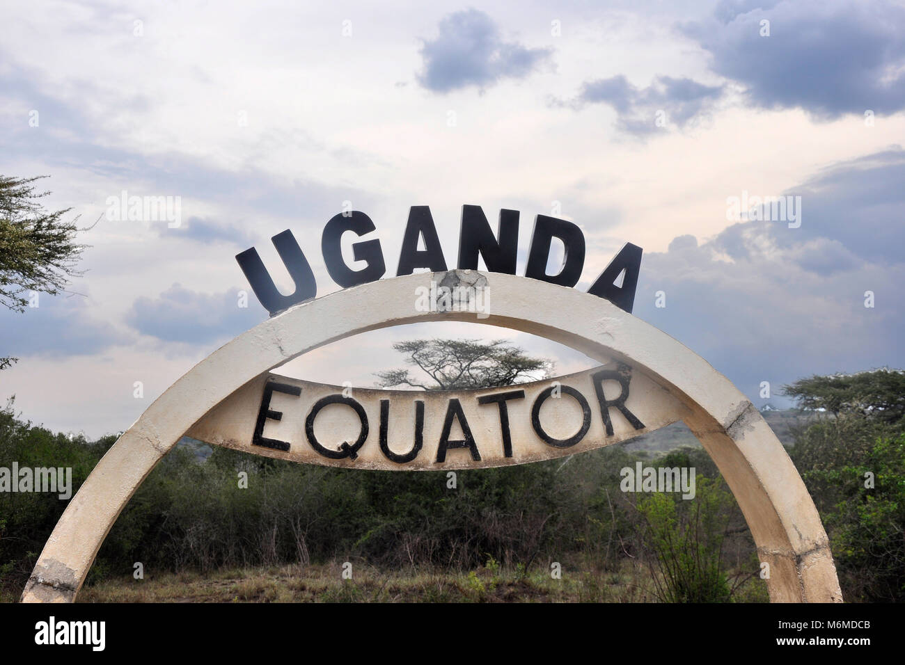 Uganda, Passing Equator Line - Stock Image