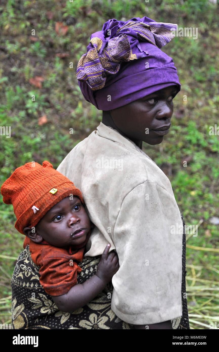 Uganda, Pigmee people - Stock Image