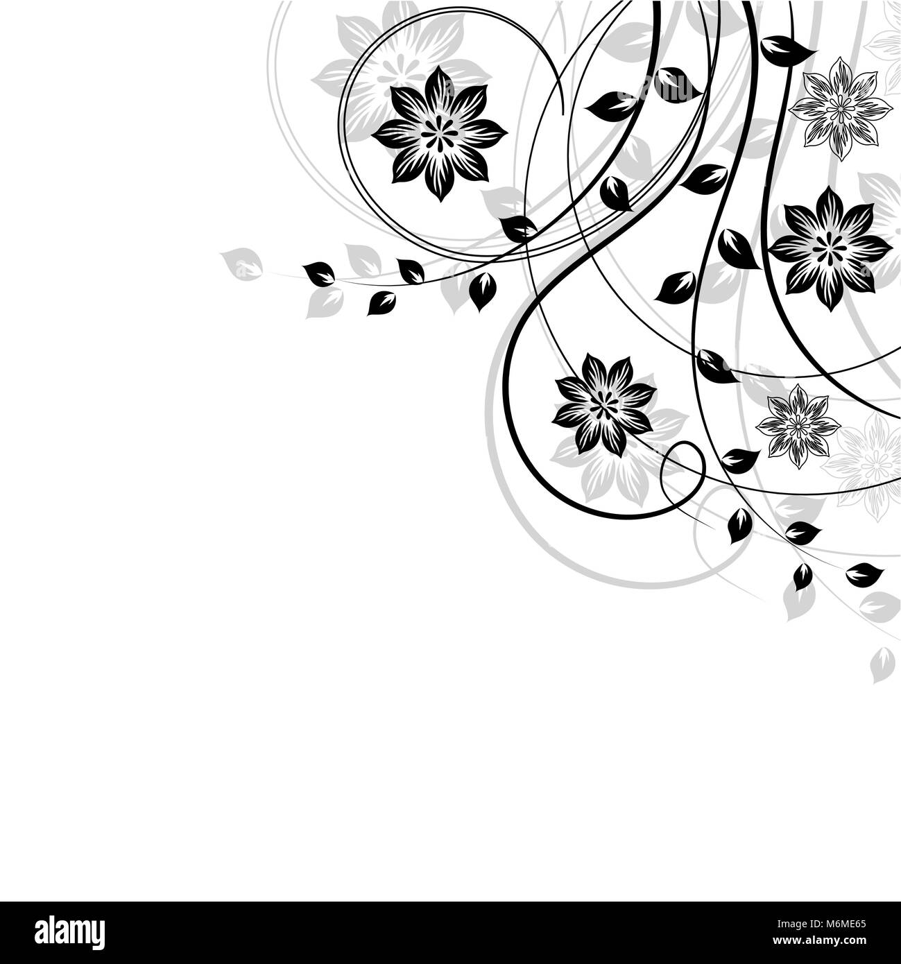 Swirl Corner Pattern Design Black And White Stock Photos Images