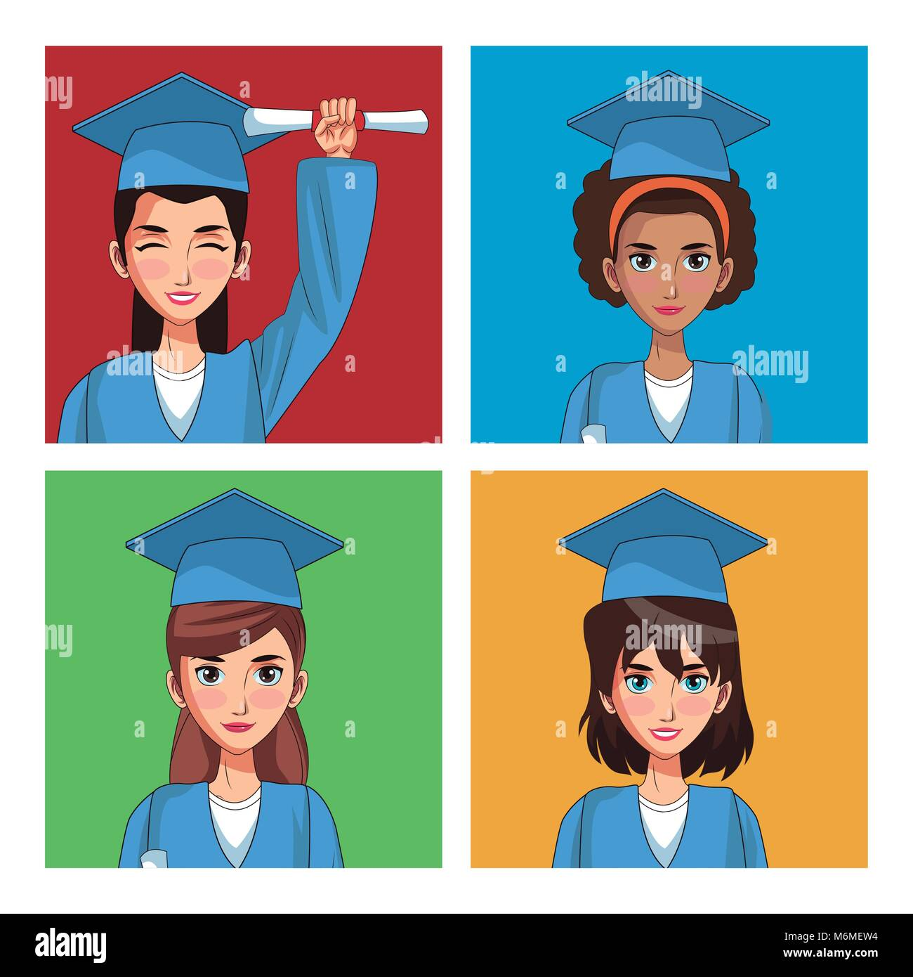 Colorful Cap And Gown Stock Photos & Colorful Cap And Gown Stock ...